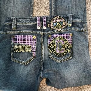 Womens Coogi Embellished jeans, size 13/14